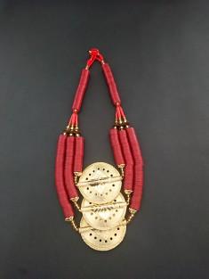 collier ethnique perles koffi et laiton