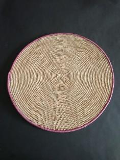 Set de table rond en osier | vannerie du burkina faso