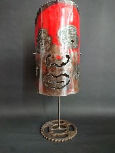 Lampe en métal ethnique