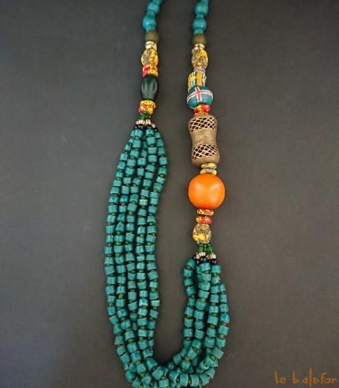 collier sautoir africain