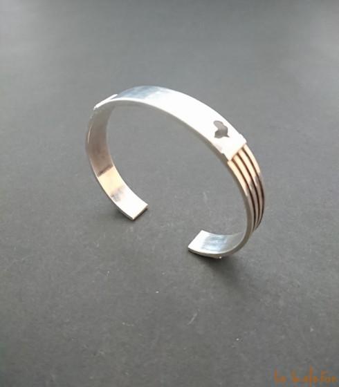 Bracelet mixte ethnique en argent