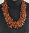 Collier africain multi rangs en perles de verre